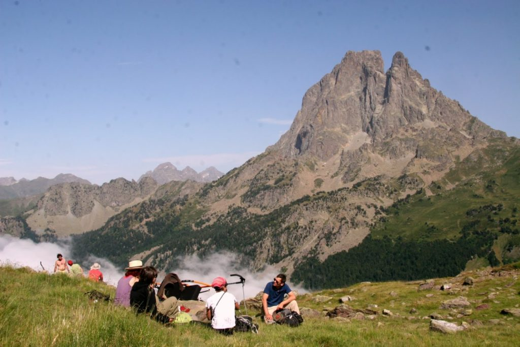 Pause belle vue Vallee Ossau Pic
